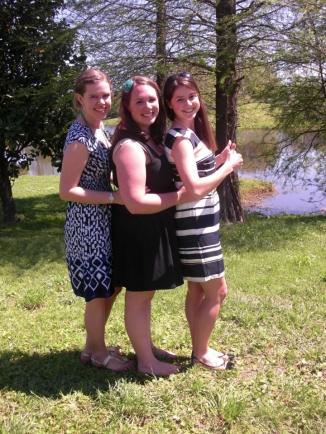 Three Generations of Chorus Presidents:Kristen Dilzell '11, Jesse Briggs '12, and Meghan Burns '13