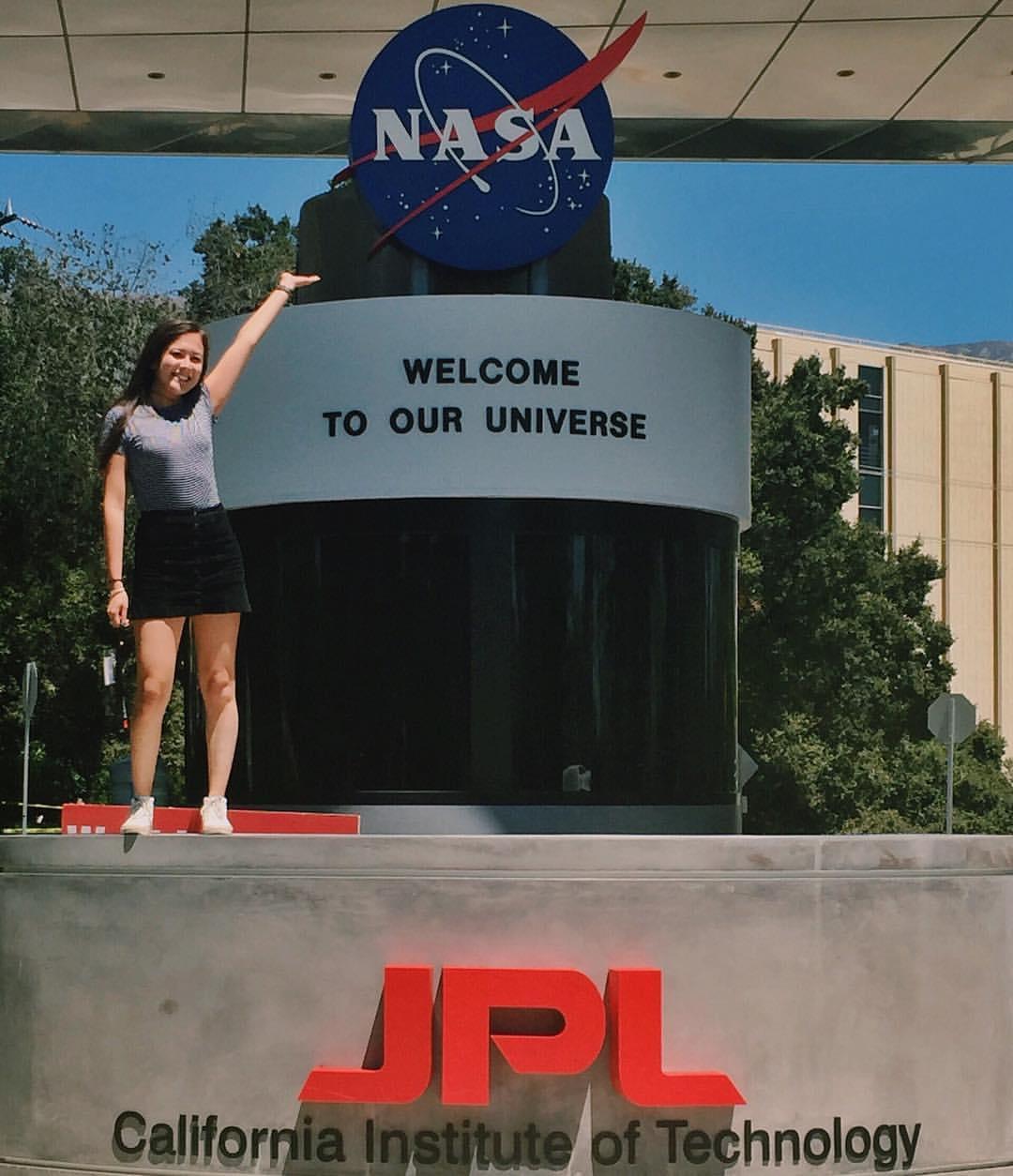Julia Troxell, SEAS '18, at her internship at NASA Jet Propulsion Laboratory