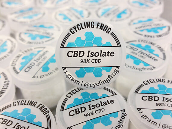 CBD Isolate  CBD Isolate is an incredibly pure product which makes it a great choice for someone who wants flexibility in their consumption method. It's edible, dabbable, vapable, smokable, and can be infused into lotions.  It's the most concentrated CBD products contain just purest CBD substance!