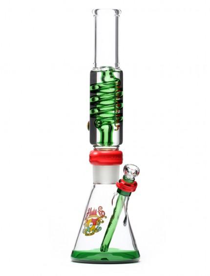 Detachable Coil Beaker Rasta Tall Glass Pipe