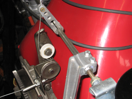 Here is the pulley bracket installed and working much better.