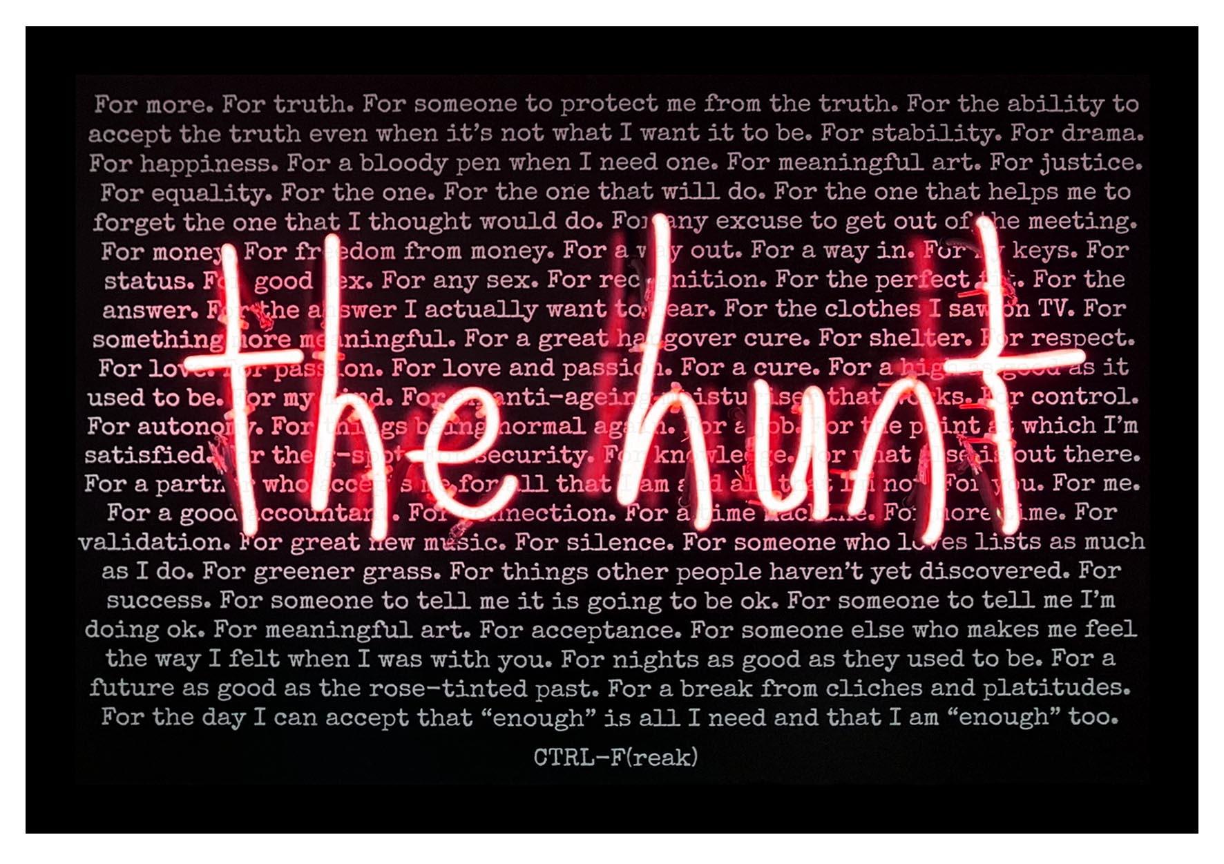 the hunt black background print mock up pink.jpg