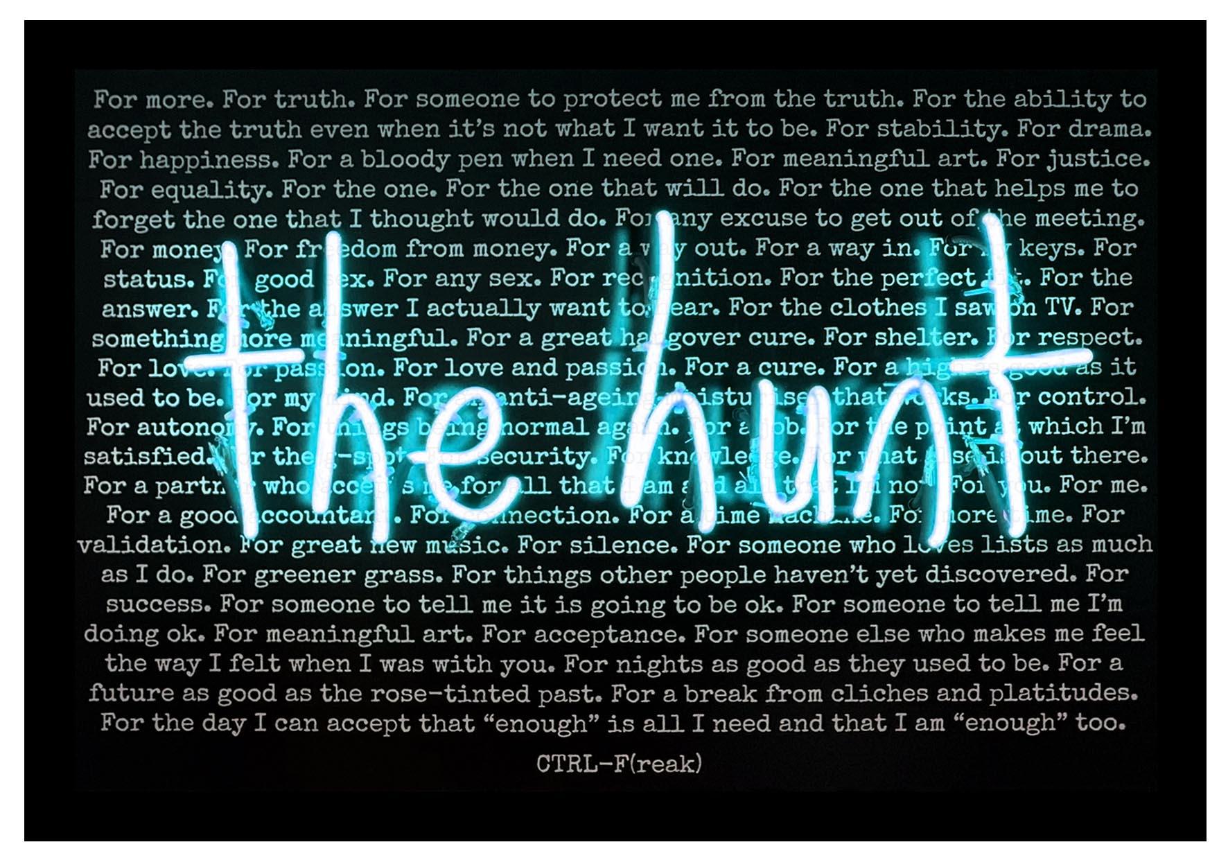 the hunt black background print mock up blue .jpg