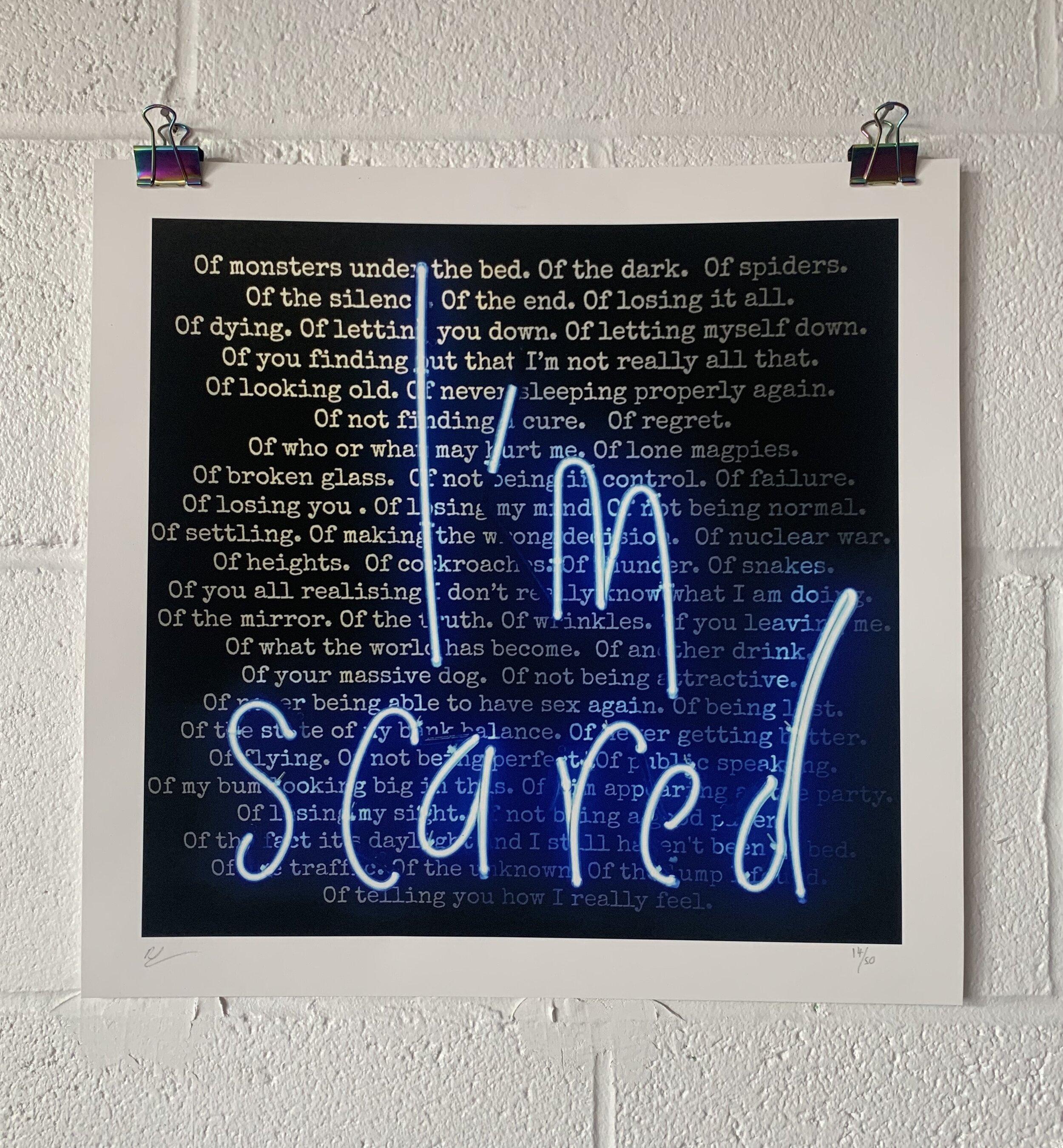 i'm scared print on wall.jpg