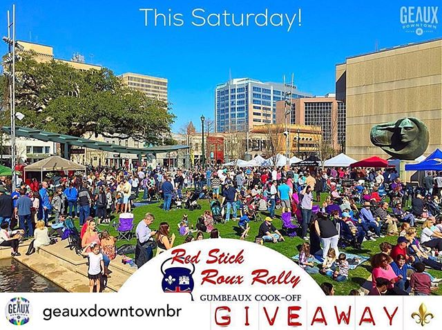 Mention your name with a friend on @geauxdowntownbr post to win tickets to Roux Rally this Saturday• @geauxdowntownbr 🥄🚨+GIVEAWAY ALERT+🚨🥄 Join #GeauxDowntownBR for the 6th annual «———⚜️————|| @RouxRally ||————⚜️———» Gumbeaux Cook-Off this Saturday from 12-5pm. Come out and taste 50 of the best gumbeauxs Louisiana has to offer as they compete for the coveted prize of Best Gumbeaux. We are giving away // 8 FREE // General Admission Tickets! . Enter to win FREE tickets: . 🎟 Like This Post 🎟 Follow @GeauxDowntownBR & @RouxRally 🎟 Tag a Friend to bring! No Limit to Entries = 1 tag, 1 entry! . 🎉 We will pick 4 lucky winners at random this Thursday at Noon with both the person commenting and person commented winning a General Admission Ticket!! Good luck! «———⚜️————|| @RouxRally ||————⚜️———» ✔️All proceeds are donated to @youthoasisbr Children's Homeless Shelter in BR! Follow @RouxRally for more info on this great event! #RouxRally #Gumbo #GumboCookOff «———⚜️——|| #GeauxDowntownBR ||——⚜️———»