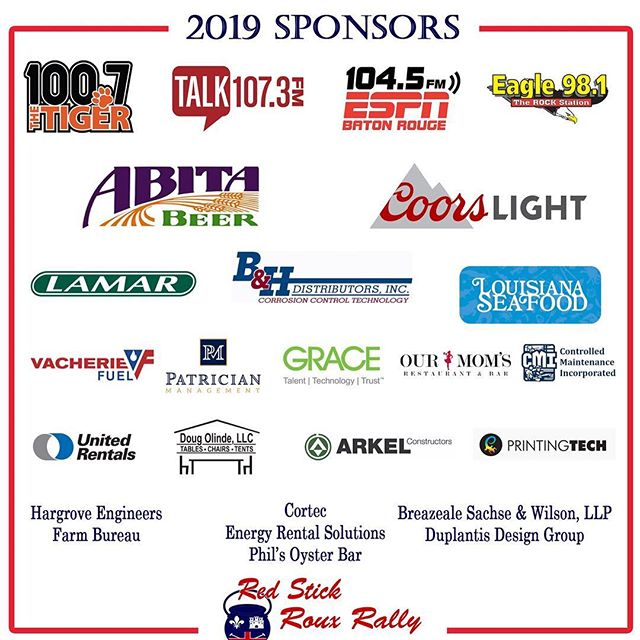 We wouldn't have such a successful event without our sponsors and our teams! Come out and support our teams this Saturday 2/9/19. Tickets are still on sell at rouxrally.com #rouxrally #rouxrally2019