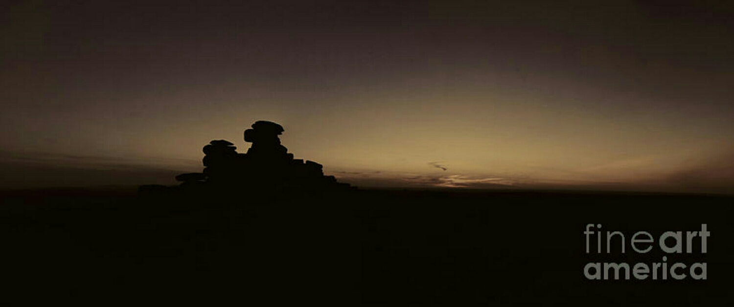 Sepia sunset at Great Staple tor