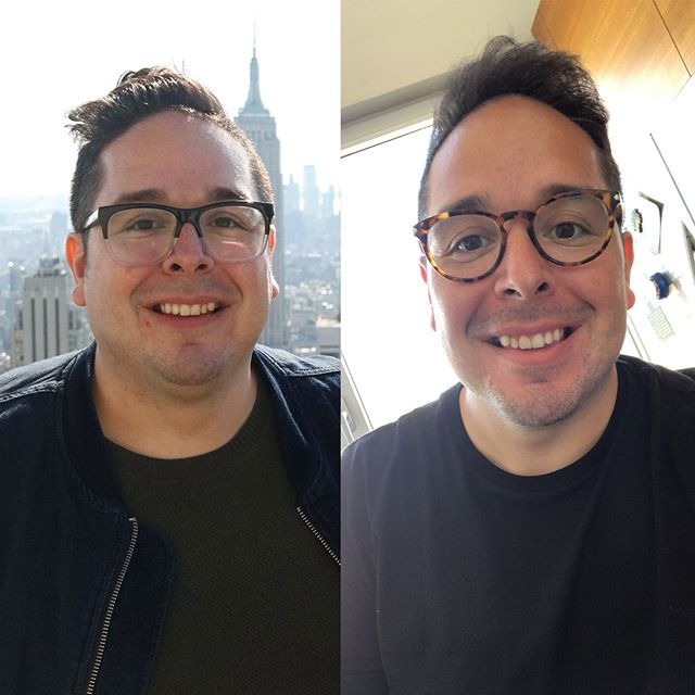 Today marks six months in New York City and the crossing of a milestone. The picture on the left was exactly six months ago today, my first day in the city, and the other is today, having released 40 pounds so far. I've carried the mantra #NewYorkNewMe these last few months and have tried to make it true in all areas of my life. My time here has been transformational... it hasn't been all Broadway shows and amazing experiences... it's been hard work, persistence, failing and getting back up, and pushing myself harder and further than I dreamed was possible. Moving here I didn't want to settle into the same patterns or routines, I wanted to carve out a new path for my life, embrace new rhythms, and be a better version of myself. It's only been six months and I can't wait to see what the coming days have in store. Huge thanks to my amazing trainer at @equinox, the team at @corerhythmfitness and everyone who has supported and encouraged me along the way!