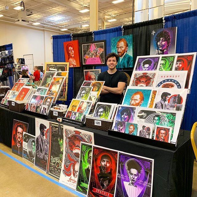 Here all weekend! If you're local stop by @steelcitycomiccon! 🎨