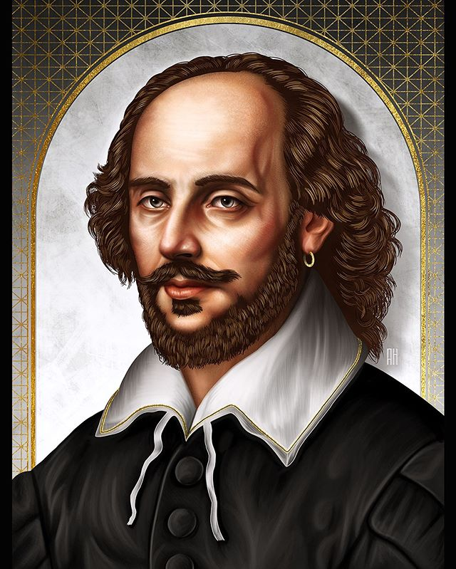 """To be, or not to be, that is the question."" —William Shakespeare 🇬🇧 It is estimated that 4 billion copies of his works have been sold world wide, making him the highest selling author of all-time. Enjoy. #shakespeare #illustration #portrait #digitalpainting #portraitpainting #digitalillustration #romeoandjuliet #williamshakespeare"
