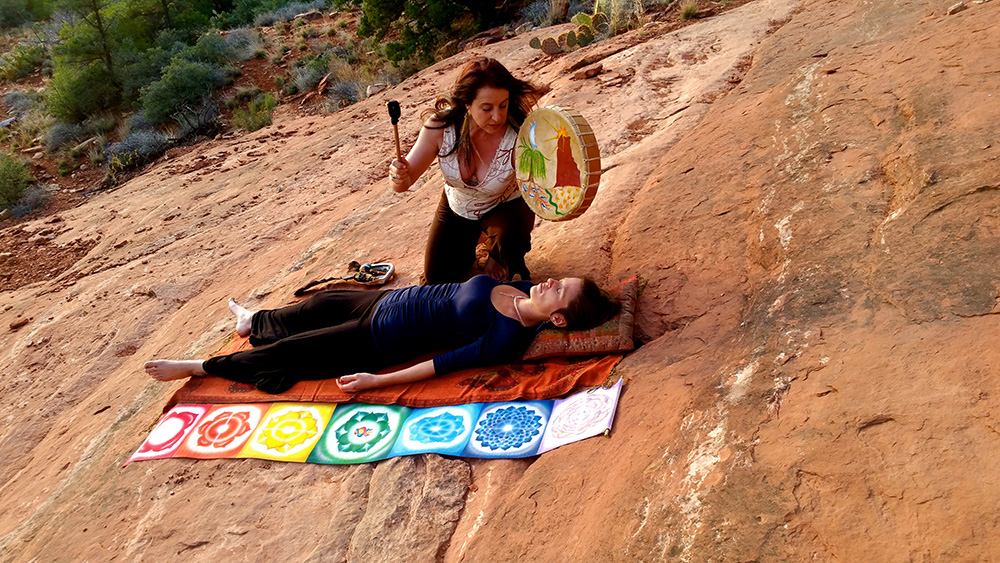 Shamanic Healing Session on the Rocks
