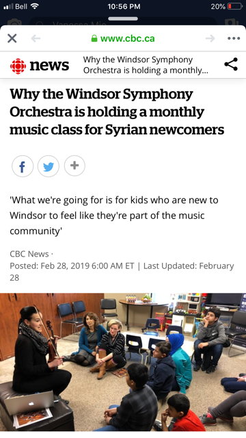 Windsor Symphony Orchestra - String Demonstration at the Multicultural Centre of Windsor, ON