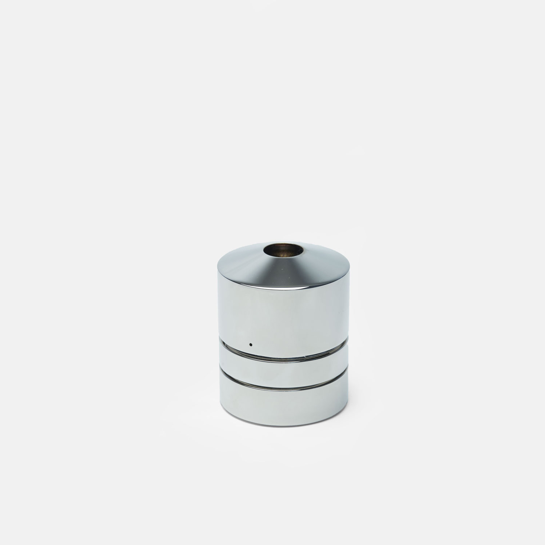 TALL CYLINDER BURNER   Polished Nickel