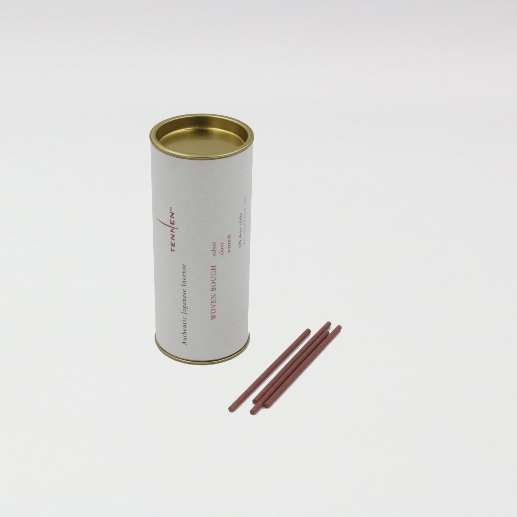 WOVEN BOUGH   velvet, clove, warmth   short stick cylinder of 100