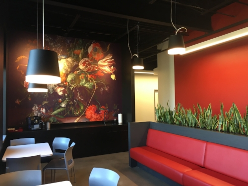 Breakroom in commercial project by Design Farm LLC.