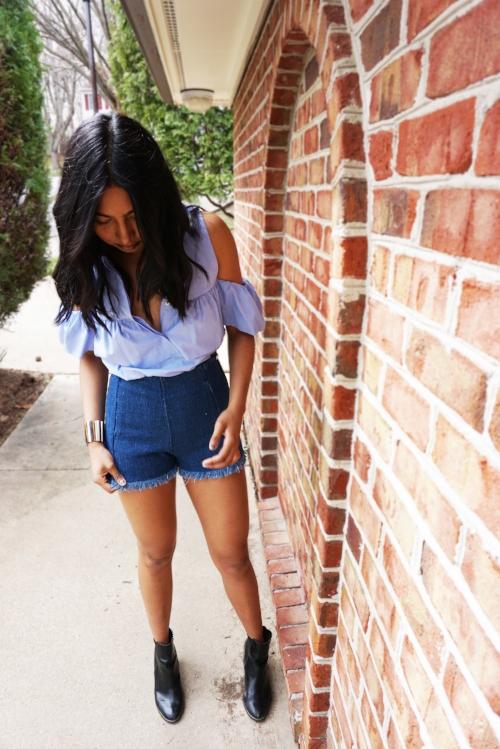 Top - Zara   Shorts - Zara   Shoes - H&M