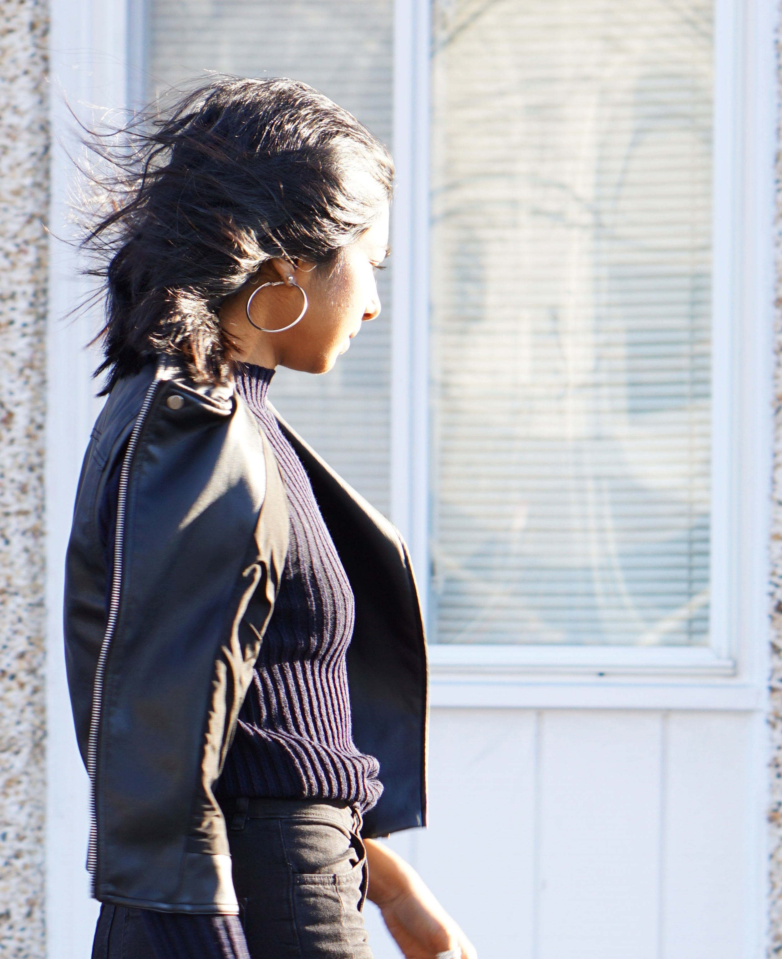 top -  ASOS   vest - Zara  pants -  H&M   shoes -  H&M   earrings -  ASOS   pin -  bando