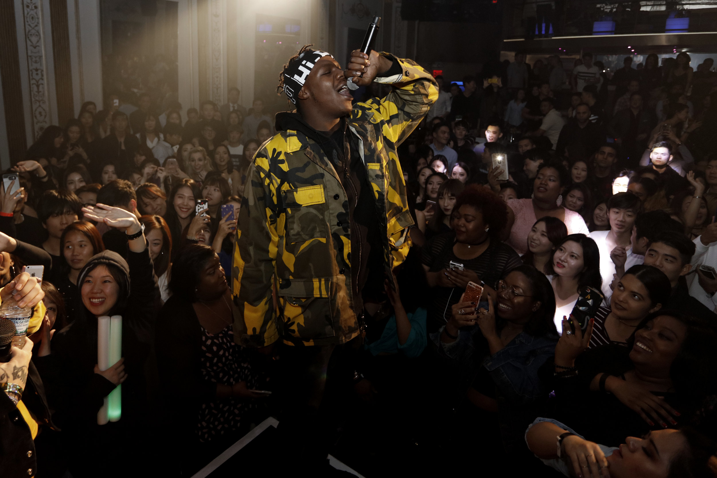 ASAP TyY, joined by Korean rap stars; Cjamm and BewhY, owned the stage at CIRCLE NYC, a famous nightclub in Midtown Manhattan.