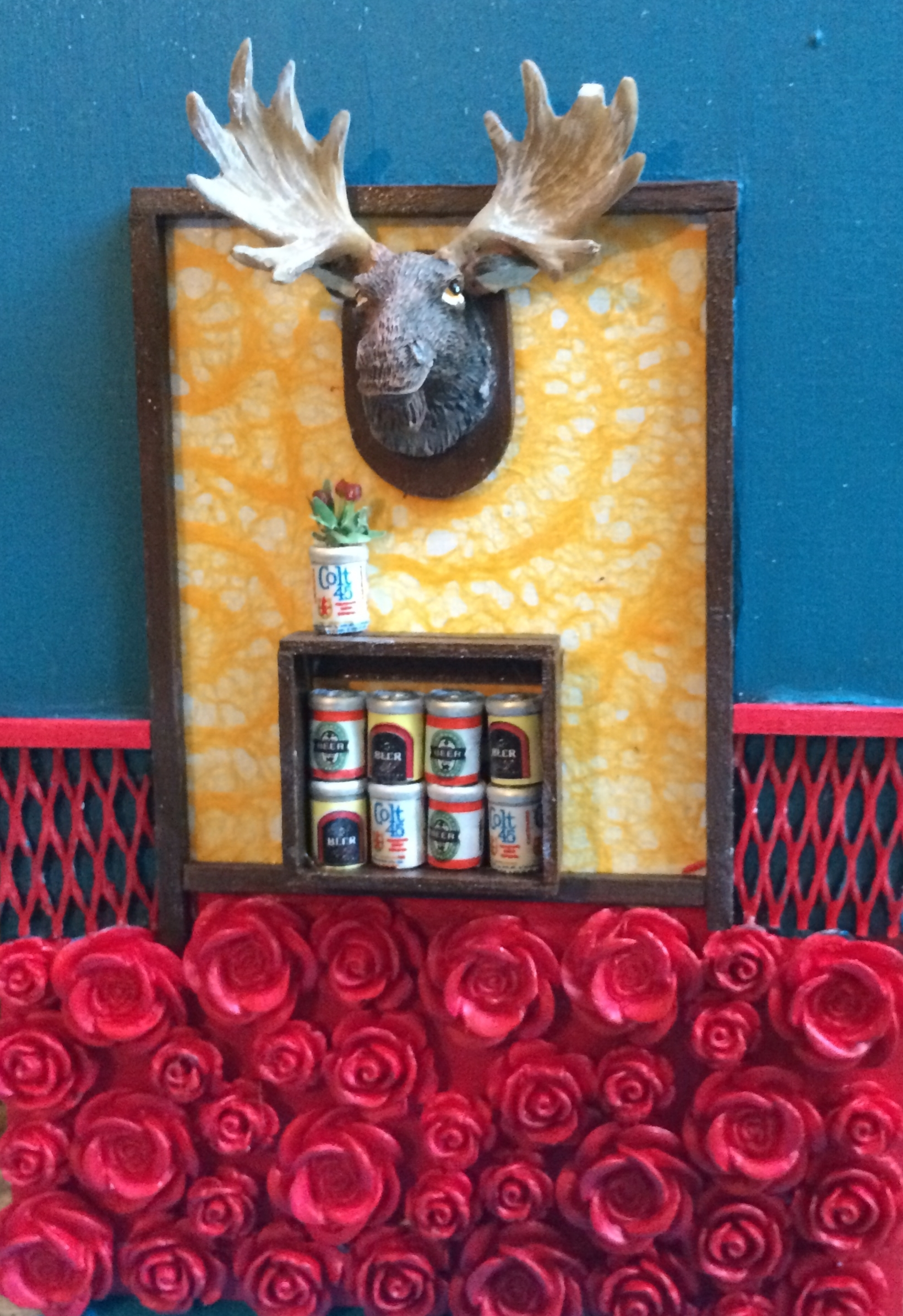 Moose and Beer Still Life