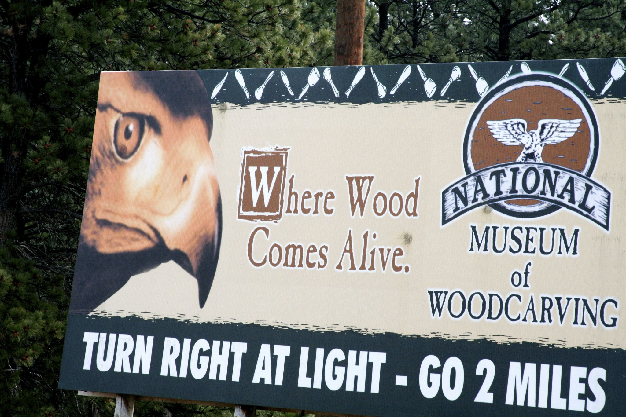 Actually, the place where wood comes alive is the forest. You know, the one you cut down to carve your inanimate museum showpieces.