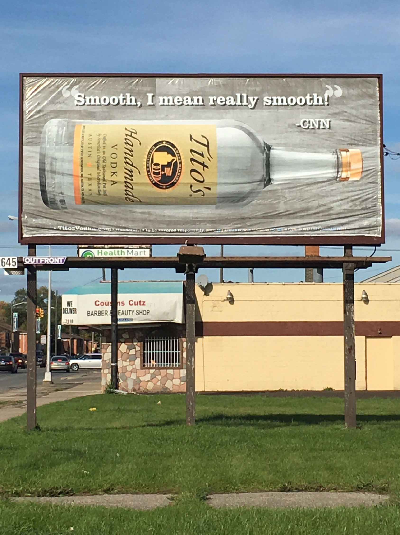 Don't shill me your pinko liberal swill, CNN.What's more, that billboard vinyl is the visual antonym of smooth.