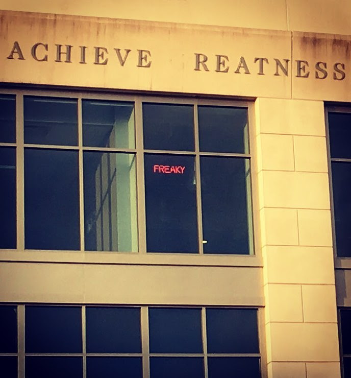 Achieve freaky reatness, indeed.