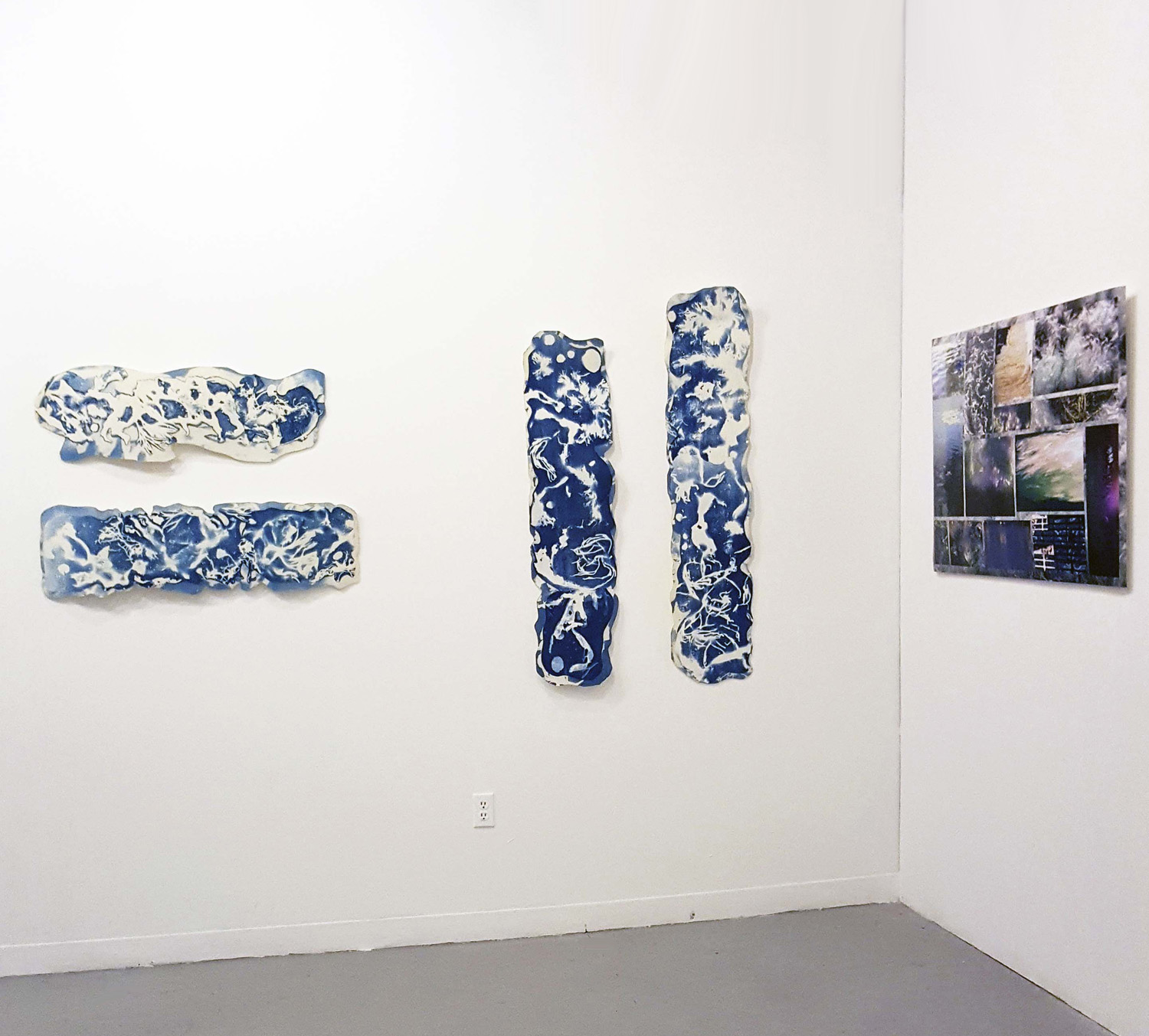 Installation: Flux Series + Water Montage at Spoke Gallery, Boston MA