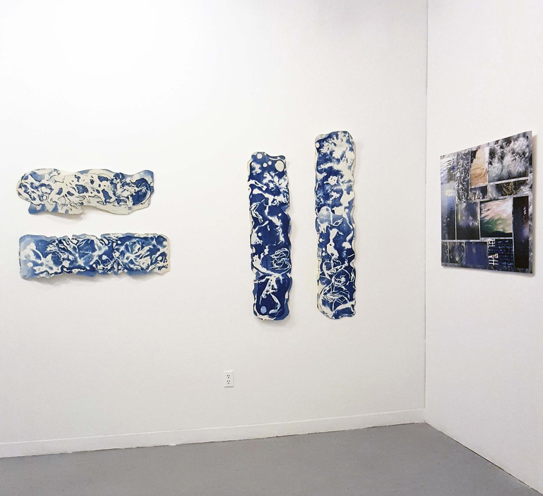 Spoke Gallery, Photo montage + 3-D Cyanotypes, Boston, MA