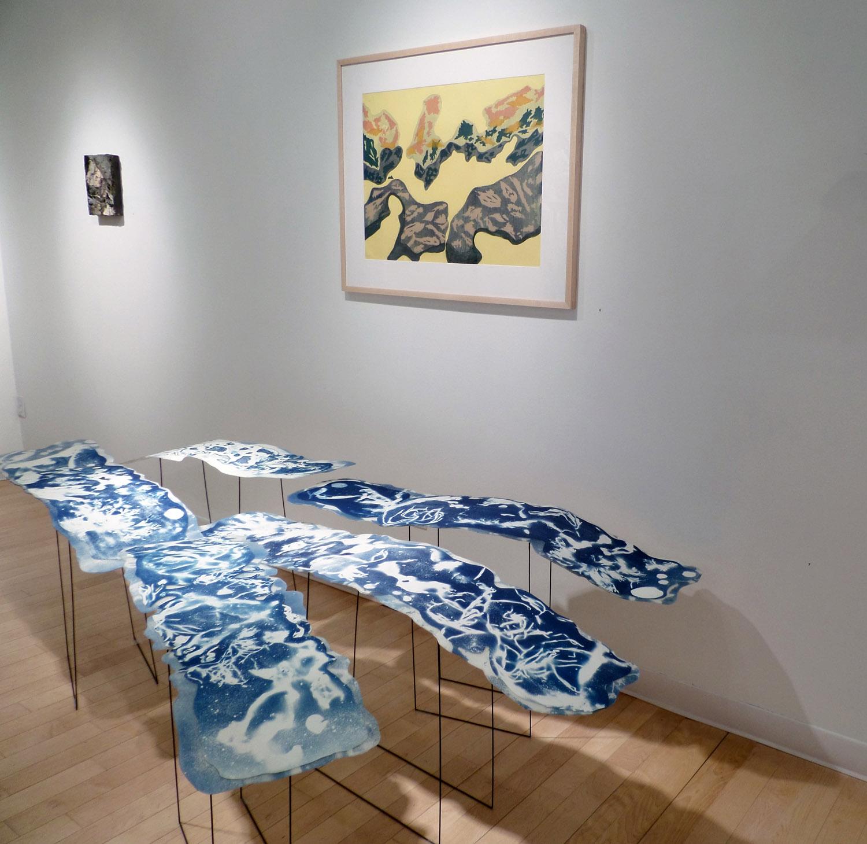 Bromfield Gallery, 3-D Cyanotype + Screen Print works, Boston, MA