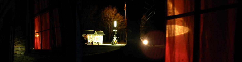 Maine Night, Curtain View I