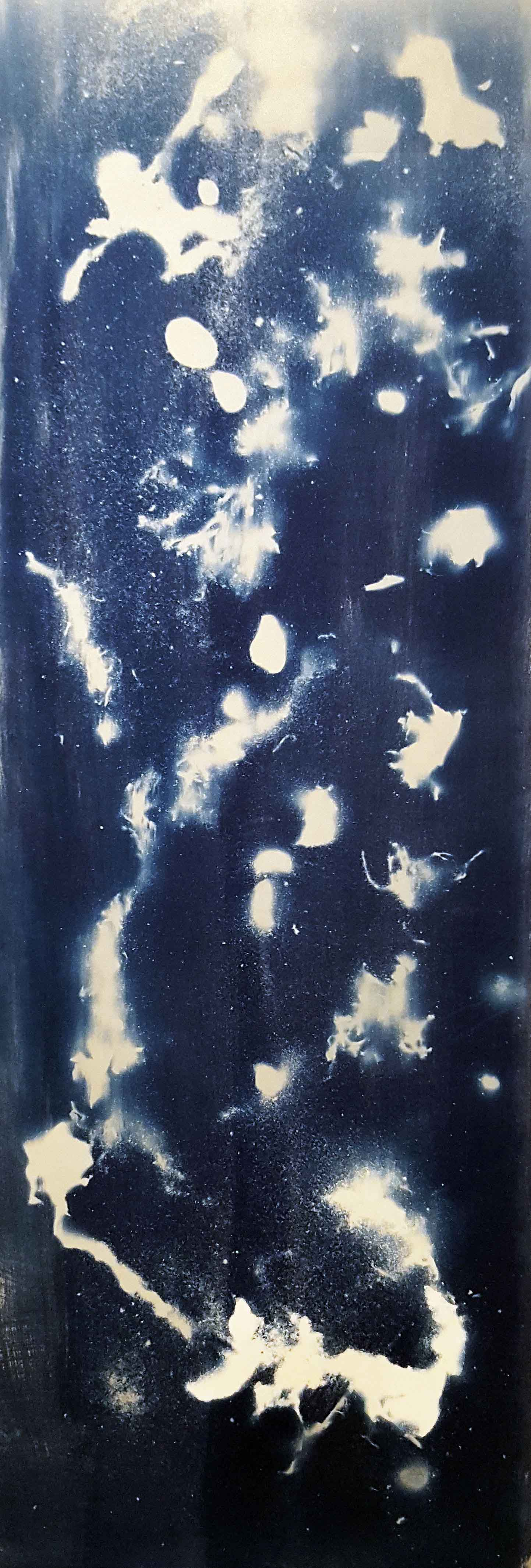 "Submerged Cyan, 36x12.75"", blueprint/paper"