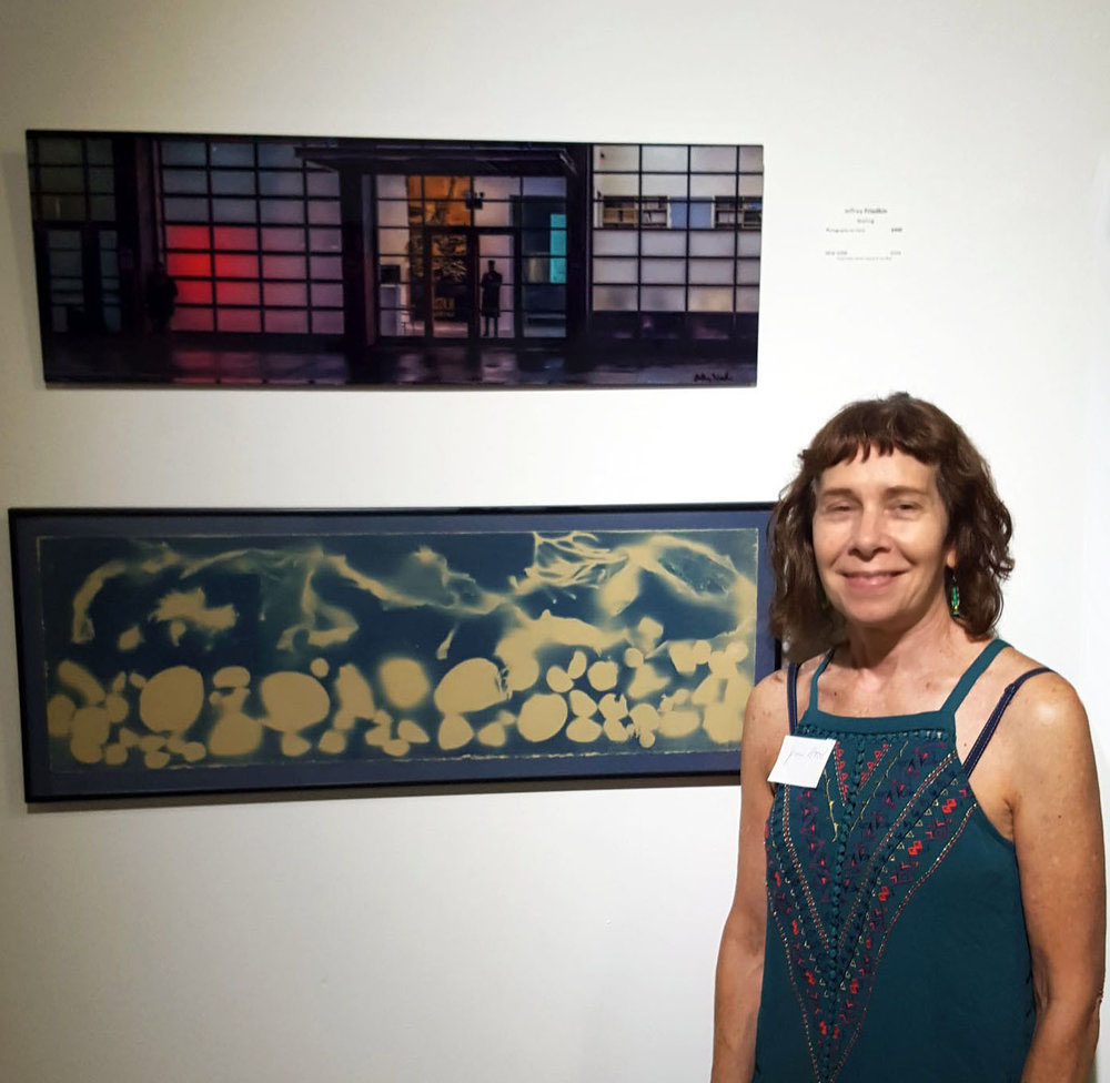 "BWAC Gallery, Brooklyn NY. ""Color"" Show, 2018: Cyanotype, ""Ocean Flux"""