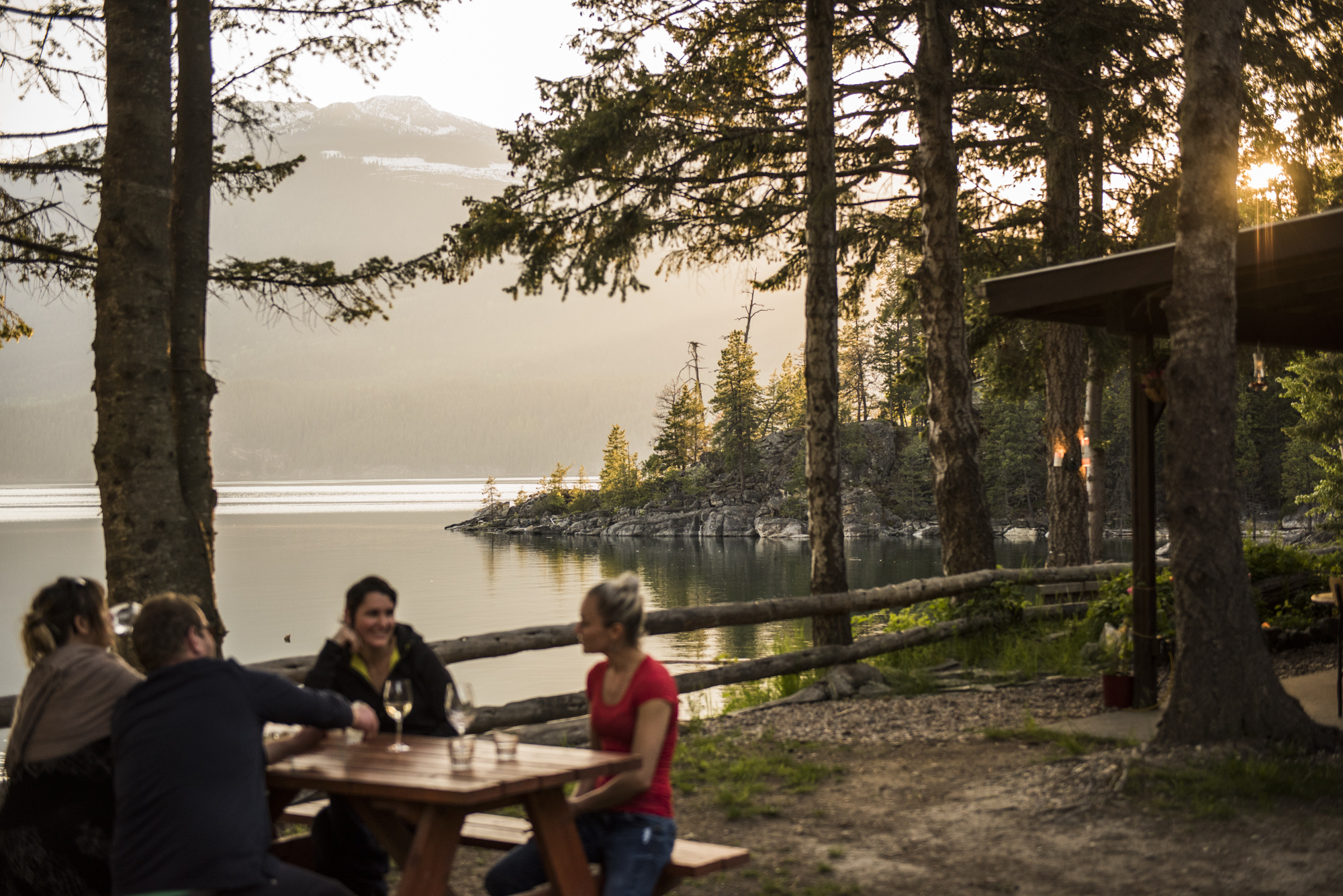 cabin-friends at picnic table.jpg