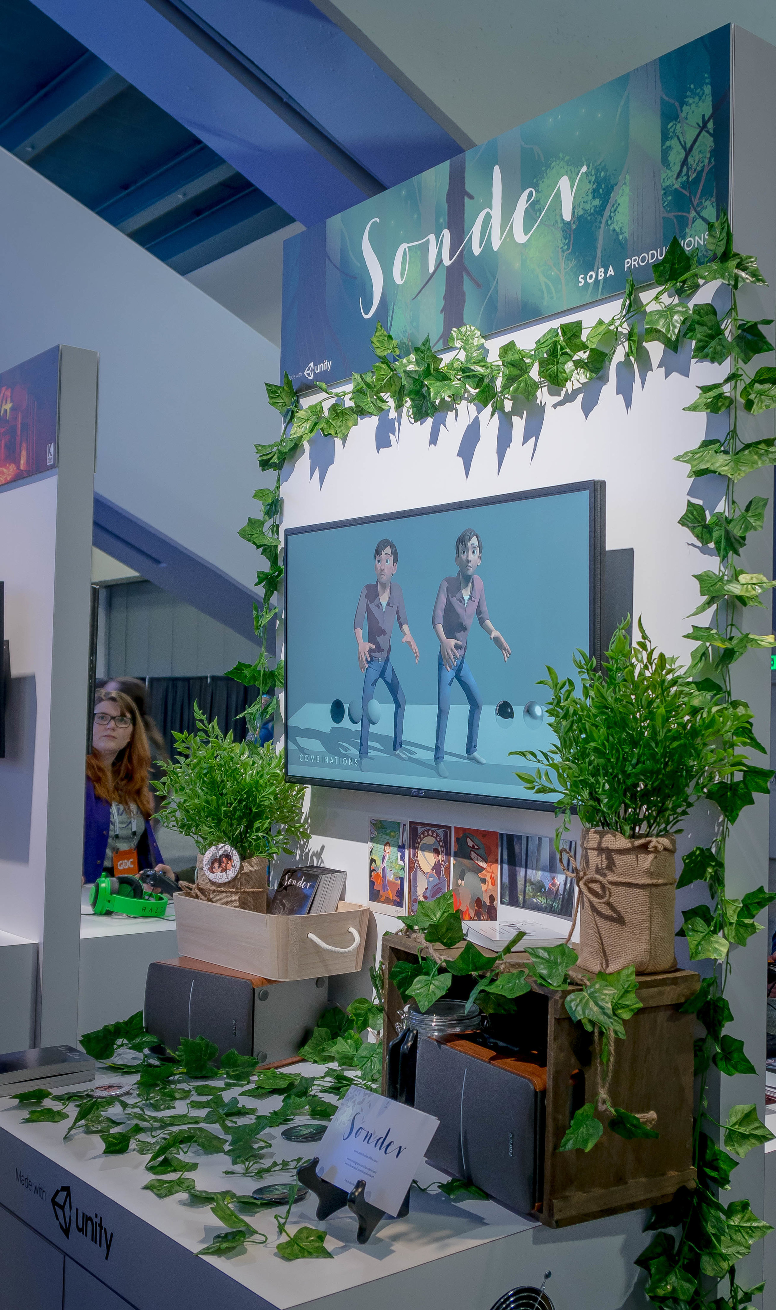 We styled our booth to match the natural setting of much of the film.