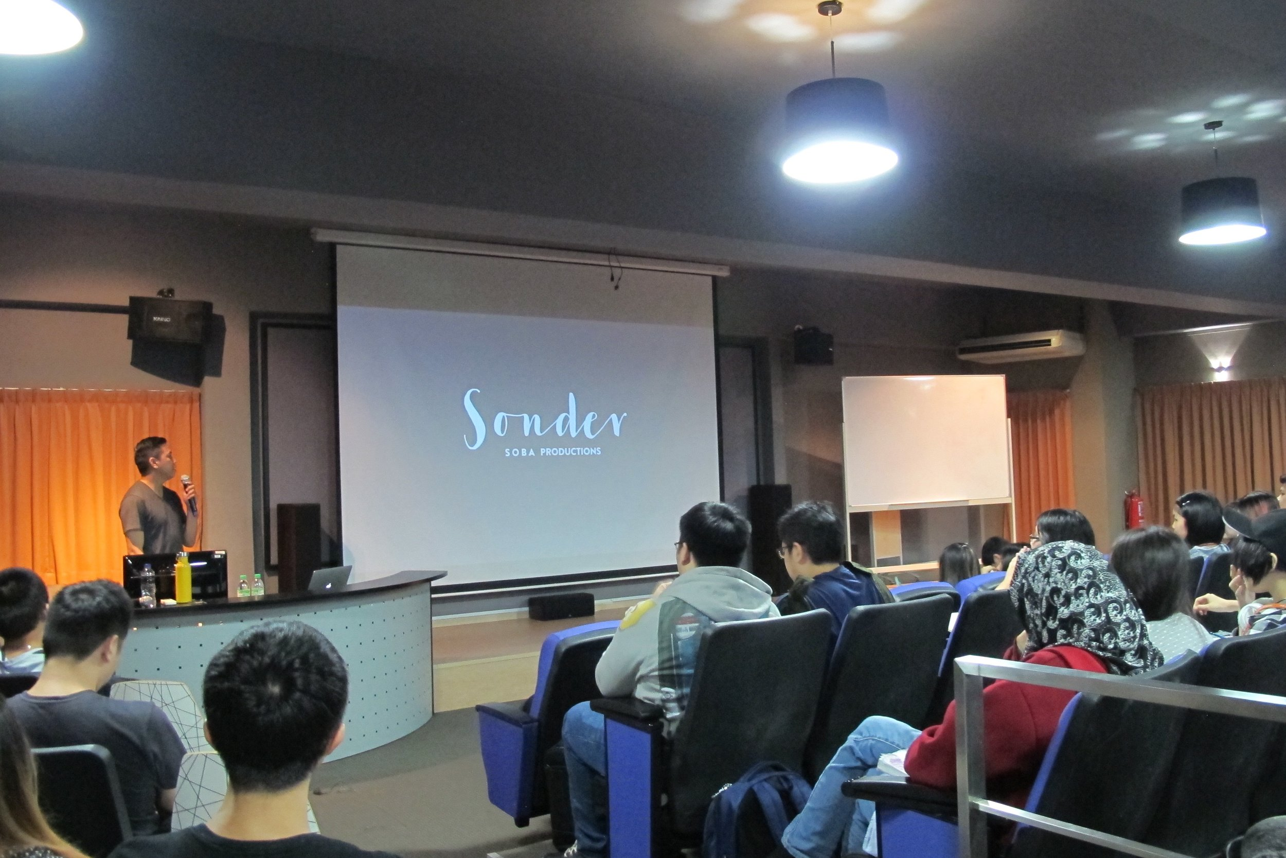 Neth speaking at The One Academy in Malaysia. Students and faculty are hyped for  Sonder .