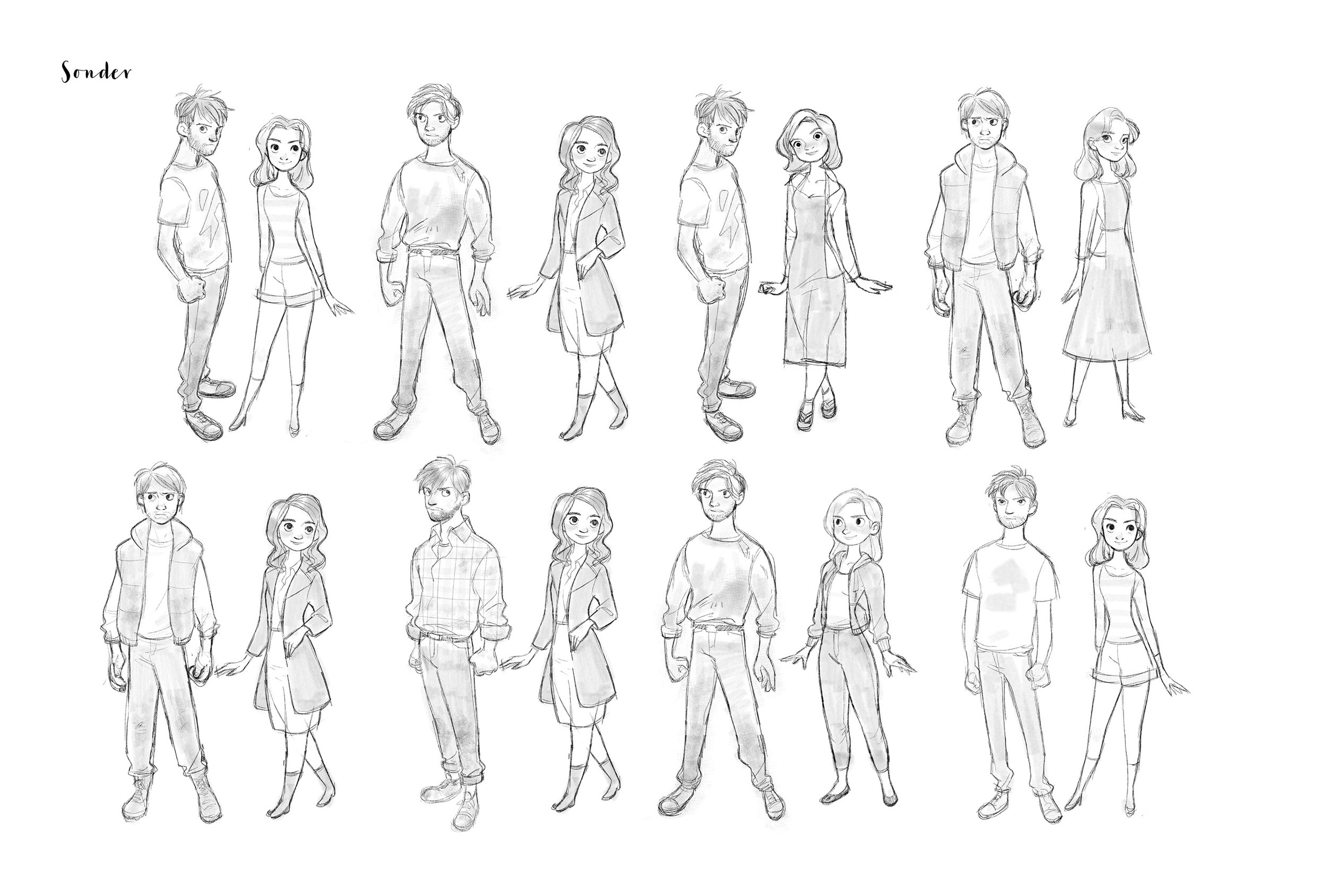 A variety of design and proportion studies for Finn & Natalie.