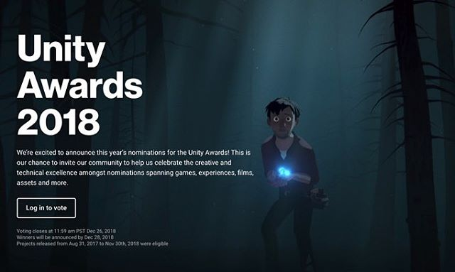 Just learned that 'Sonder' has been nominated for TWO @unitytechnologies 2018 Awards: best use of Unity for film, and Best Overall Project! If you enjoyed 'Sonder' and want to help us out, we'd love your support. Just follow the link and vote for 'Sonder' by next Wednesday, 12/26. Thanks! https://awards.unity.com/