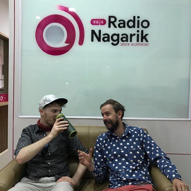 So Robbie and Jack were interviewed by Radio Nagarik this morning whilst in Kathmandu - @radionagarik ✌🏼✌🏼