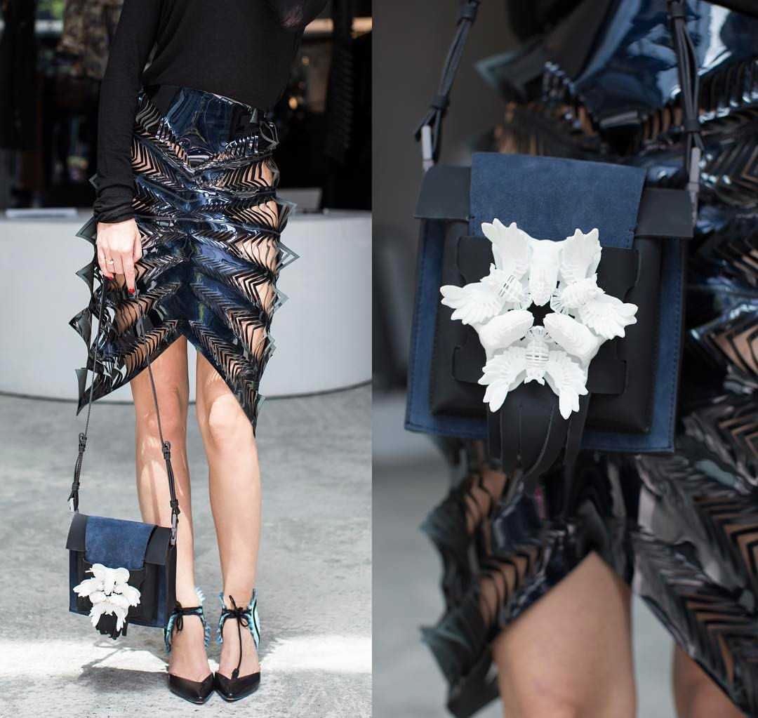 3D Printing vs leather Exocet bag at the Cartel.JPG