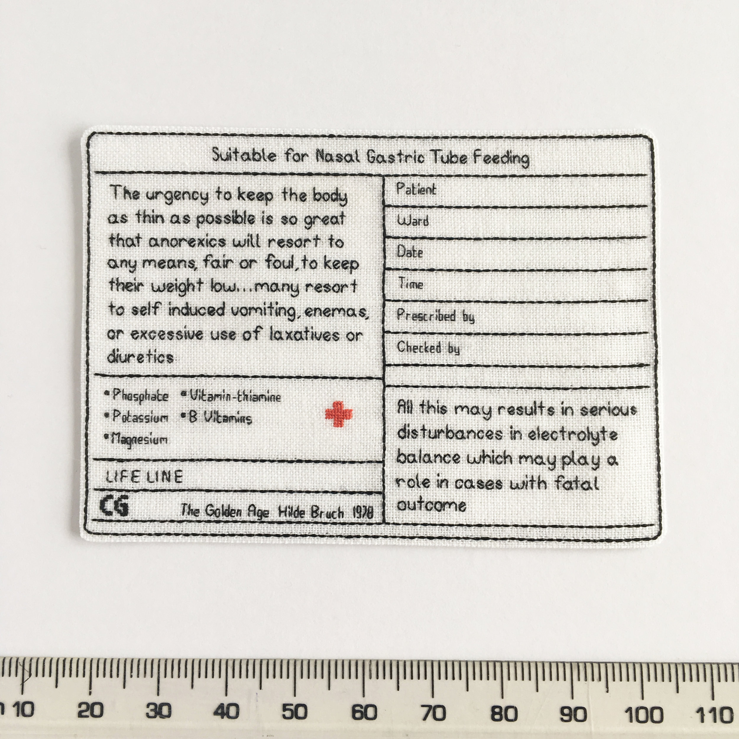Label for drip bag