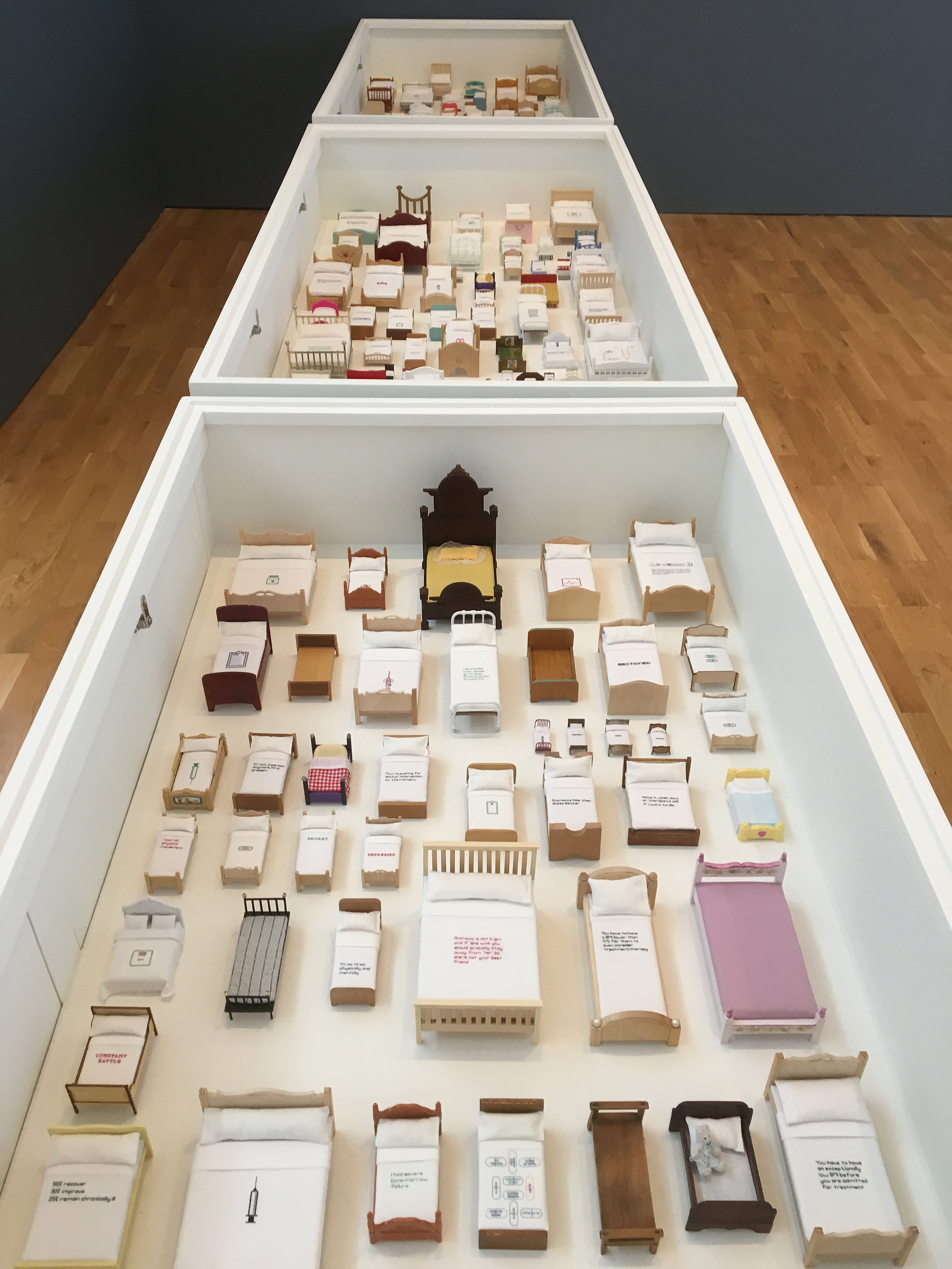 In-situ at MAC Birmingham as part of Ctrl/Shift, a project by The 62 Group of Textile Artists. The exhibition concept was developed in partnership with the 62 Group and independent curator Liz Cooper.