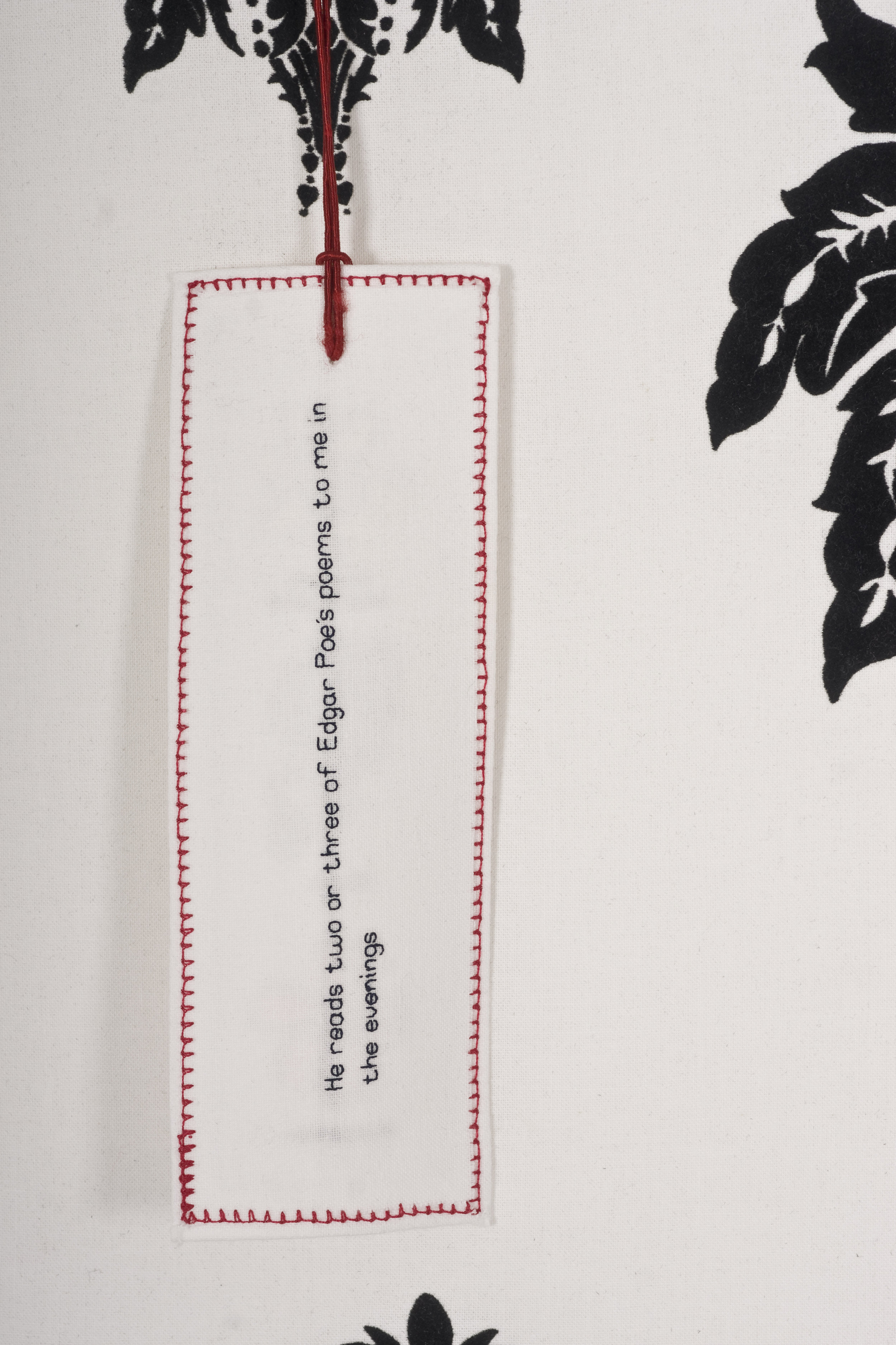 Tennyson read to Emily every night. Television soaps and their viewing figures are stitched onto the back of bookmarks…