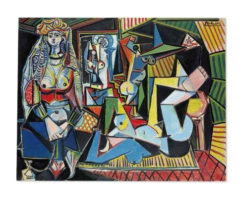 Picasův obraz z top 10 nejdráže vydražených děl.  Les Femmes d'Alger , 1955, olej na plátně, 114x146,4 cm, soukromá sbírka Hamada bin Jassim bin Jaber Al Thani. Zdroj: Pinterest