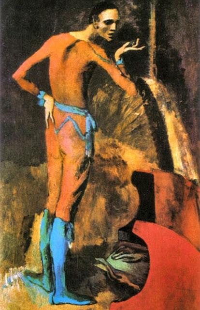 Protržený obraz z MET.  L'acteur , 1904, olej na plátně, 196x115 cm, Metropolitan Museum of Art. Zdroj: Pinterest