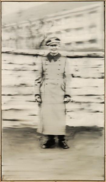 Gerhard Richter, Strýc Rudi, olej na plátně. Zdroj: webové stránky Památníku Lidice – audioprůvodce.