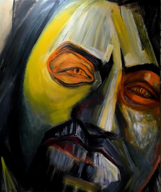 Galina Fleischmannová : Ivo, olej na plátně, 140 x 165 cm.