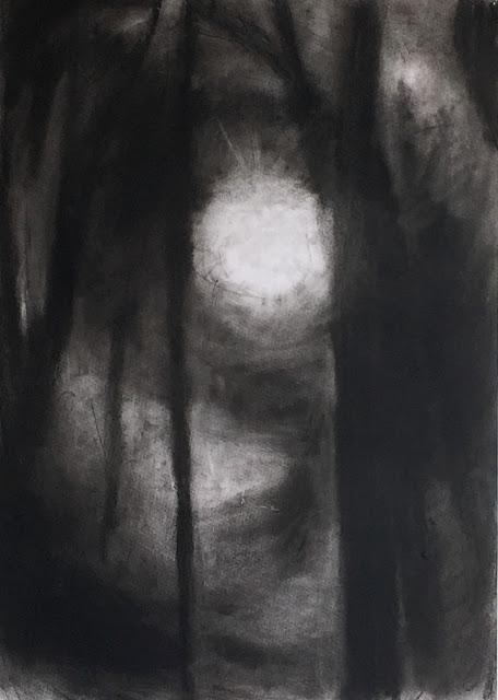 Galina Fleischmannová : Světlo v oboře II., cyklus obora, 2013, pastel na papíře, 61 x 86 cm.