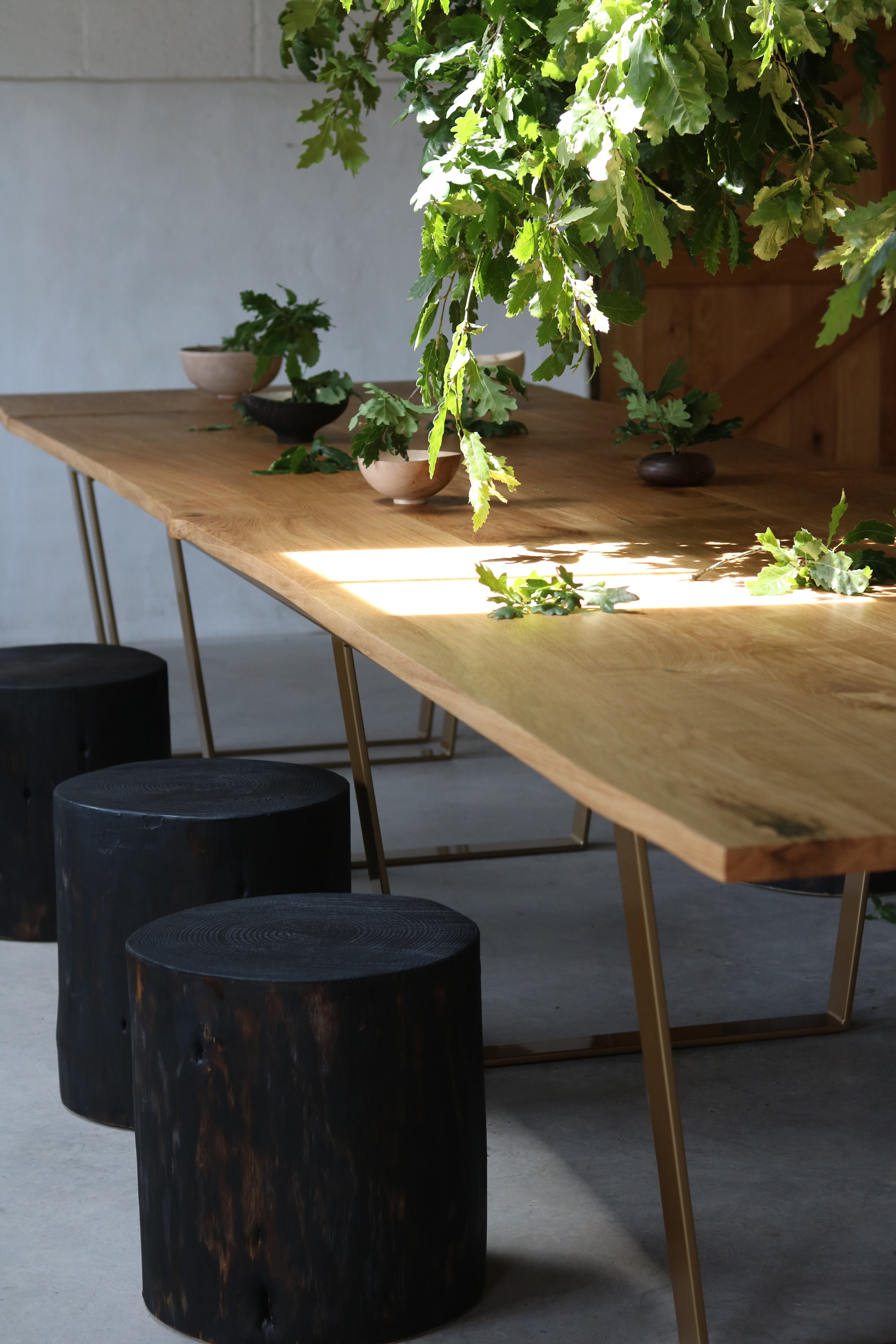 Solid Oak Extending Dining Table -