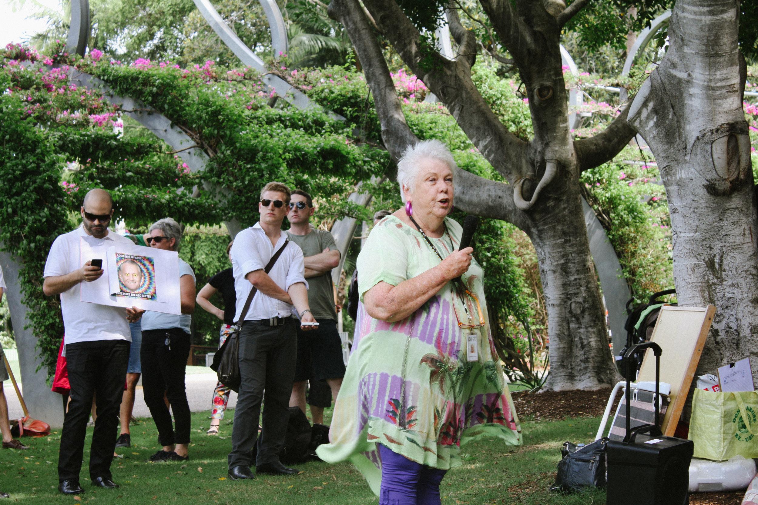 Lesly Lotha_Newzulu Australia_ABC cuts protest_Brisbane 01