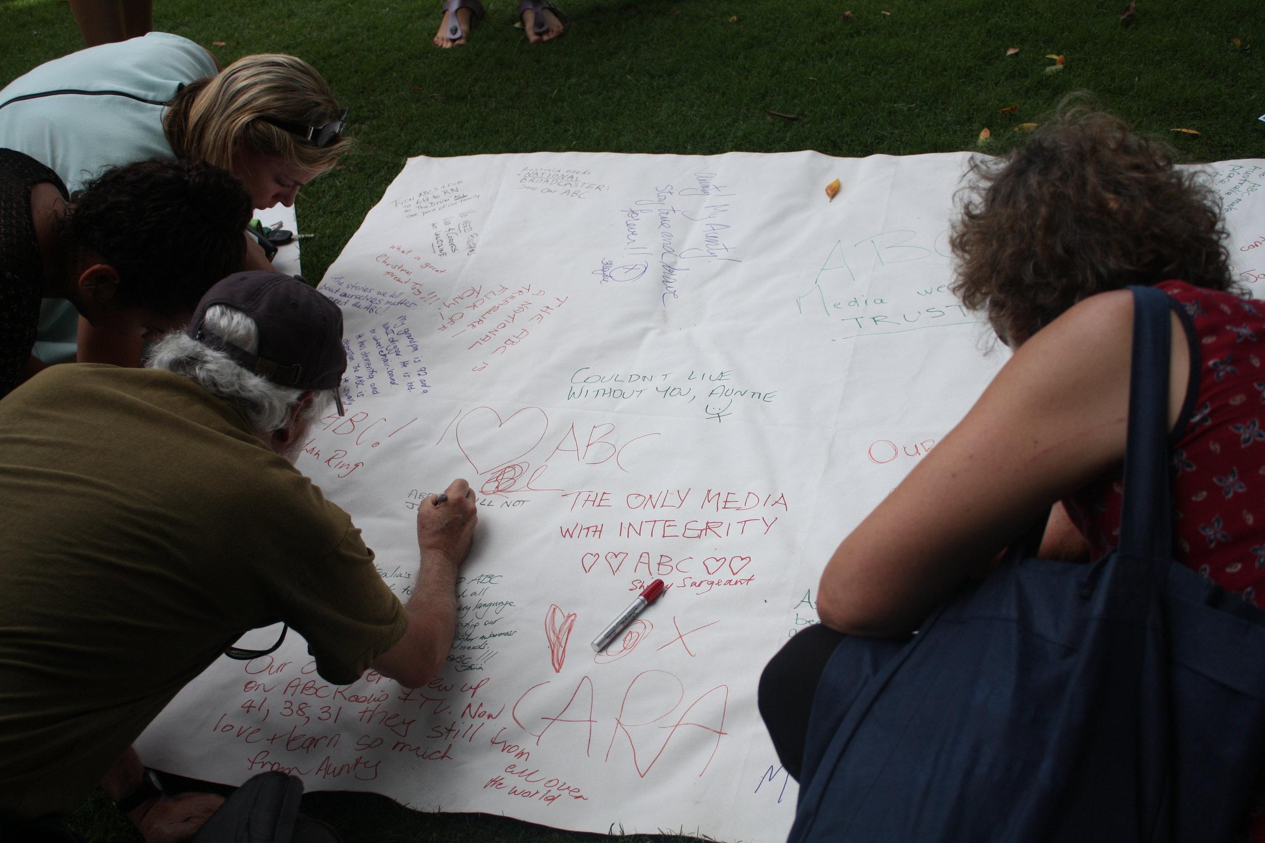 Lesly Lotha_Newzulu Australia_ABC cuts protest_Brisbane 05